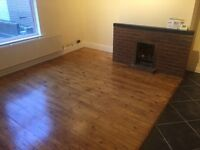 Dewsbury, Aire St, two double bedroom terrace house with yard, secure shed & BBQ