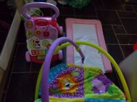 baby walker play mat and changeing mat bundle 10.00