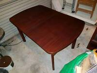 Dining Room Table, Chairs, Cabinets and Side Unit