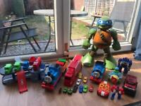 Thomas Trains Ninja Turtle Car Garage Park Planes Lorry Cargo Trucks Transformers Robot toys bundle