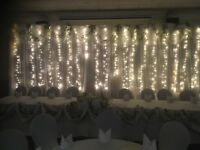Beautiful led backdrop available to hire