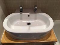Bathroom Basin Sink Modern Chrome Tap /Faucests