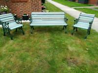 3 piece garden bench set