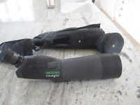 Opticron Imagic field scope with waterproof case and Velbon tripod