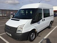 2012 FORD TRANSIT CREW CAB 100 T260 FWD / NEW MOT / PX WELCOME / 6 SEATS / NO VAT / WE DELIVER