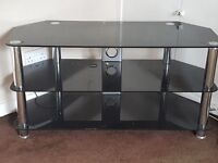 """**£20** Black tv stand holds up to 50"""" good condition"""