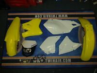 Acerbis Plastic Kit White Halo Headlight DRZ 400 SM E S 00-14 Yellow Plastics