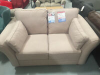New Thornton 2 Seater Fabric Sofa - Old Rose Memory Foam Cushions