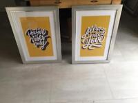 2 gorgeous framed wall pictures
