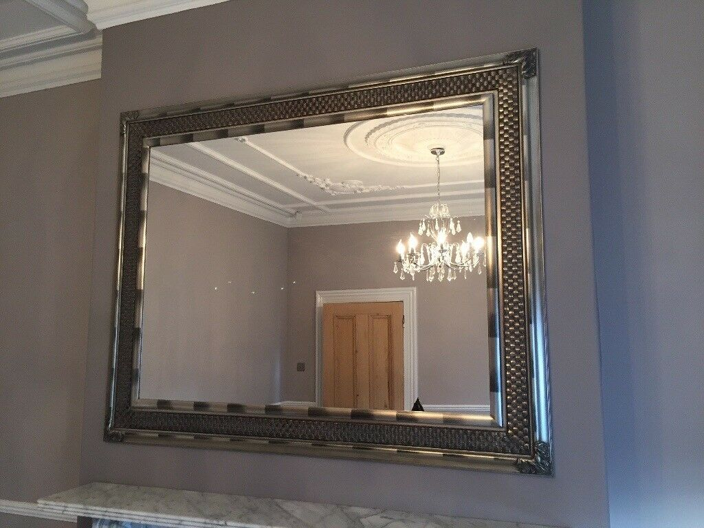 Mirror Wood Frame Pewter Silver Colour In Sunderland