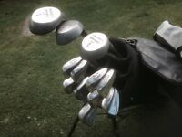Golf clubs - Full set of Balmoral Golf Clubs, Driver, 3 & 5 Woods, Irons (3 to SW) Putter bag & more
