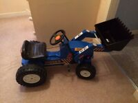 Kids Ride-On Tractor with front loader and trailer