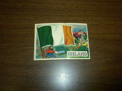 Flags Of Ireland (FLAGS OF THE WORLDS #15 IRELAND Topps card 1956 U.S.A. Printing NICE)