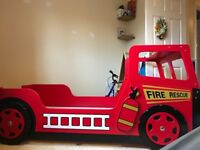 Fire engine single bed