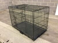 Collapsible transport dog crate