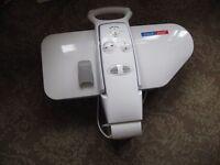 iron press, dehumidifier and foot exerciser and wheelchair