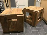 Handmade rustic bedside tables