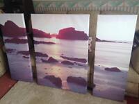 Next Large Sea View Split Canvas
