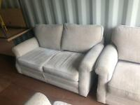 3 piece suite 2 x two seater arm chair **Free delivery **