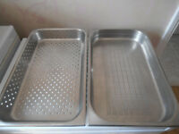 Perforated 1/1 Gastronorm Trays x 2