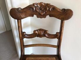 Three beautiful carved wooden chairs