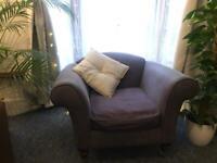 Large blue/purple arm chair
