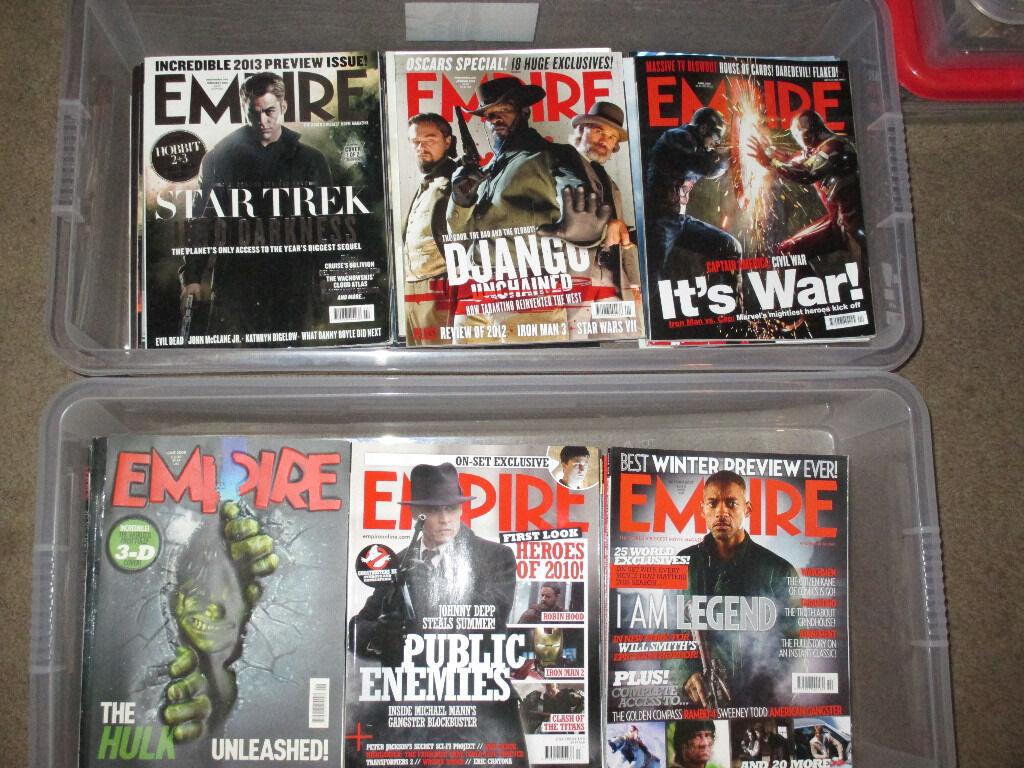 10 year worth of Empire Magazines