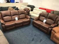 Brown Bonded Leather 3+2+1 Recliner Set ***BRAND NEW***