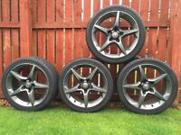 "Vauxhall Astra / Vectra Penta 5 spoke alloys wheels 18"""