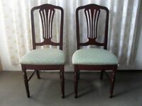 PAIR OF REPRODUCTION MAHOGANY DINING CHAIRS BEDROOM CHAIRS