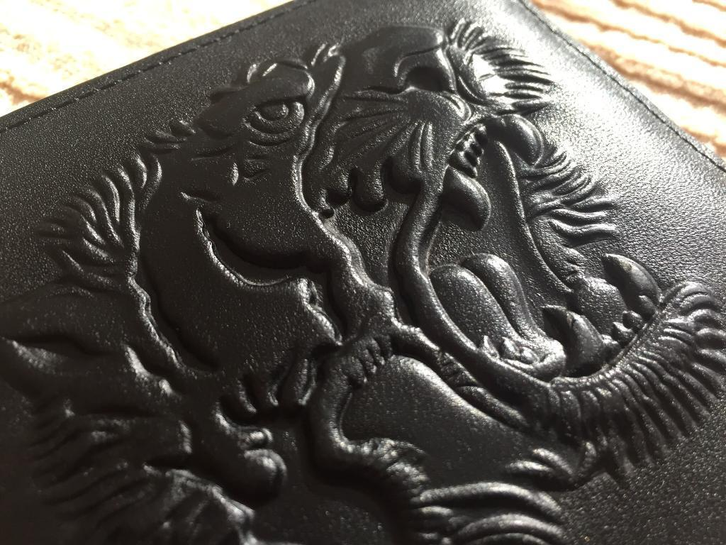 12dc3739987718 **SOLD** GUCCI Embossed Tiger Leather Bi Fold Wallet - Style 451179 DUX1T  1000