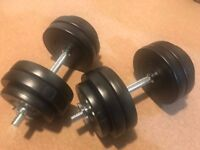 Weights for sale - 30kg dumbbells set, very good condition