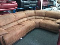 New/Ex Display LazyBoy Brown Recliner Corner Sofa [left or right corner sofa]
