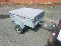 Erde 102 car tipping trailer with waterproof cover spare wheel
