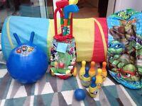 Kids garden toy bundle, paw patrol, ninja turtles