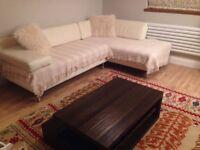 Beautiufl habitat leather corner sofa