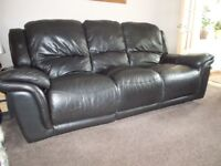 leather recliner sofa and matching recliner chair