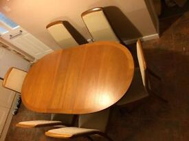 Extendable Nathan Dining Table and Chairs