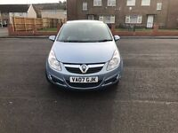 2007 vauxhall corsa d in blue excellent condition