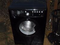 black indesit 8kg washing machine