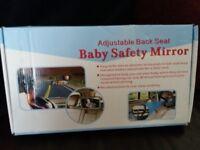 Baby safety car back seat big mirror