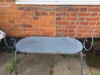 Ikea iron garden bench