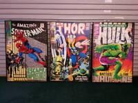 Marvel Comic Large Canvas Spiderman Thor & Hulk