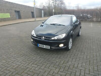 PEUGEOT 206 ALLURE 2.0 COUPE (Black) Perfect drive, handles & feels great. Dent to nearside backwing