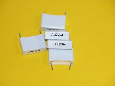 4pk - .33uf/250V Mylar (tm*) Capacitors