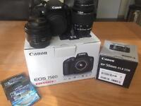 Canon EOS 750D w EF-S 18-55 Is STM plus extras
