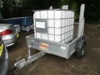2010 BATESON (750KG) GALV STEEL BOWSER TRAILER WITH RAMPTAIL...