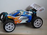 RC Car - HiSPeed Off Road Buggy 1/16th Scale 4 Wheel Drive 2-Batteries Water Resistant Internals