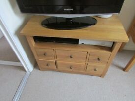 cario solid oak tv unit