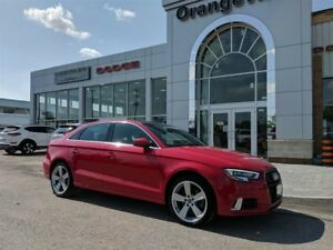 2017 Audi A3 2.0T, KOMFORT, QUATTRO, ROOF, 1-OWNER!